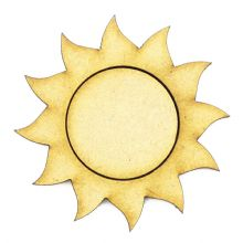 Wooden MDF Craft Blanks - Sun, Sunshine, 20mm to 50mm - Gold, Silver, Black